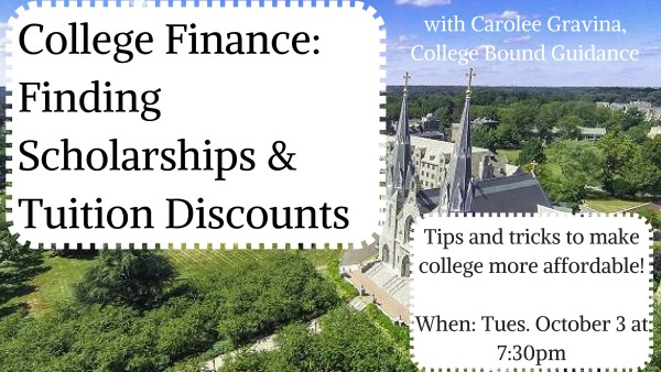 College Finance- Finding Scholarships & Tuition
