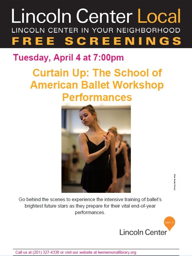 Lincoln Screening- Ballet Performances