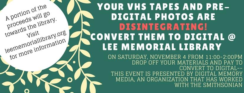 Convert Your Pre-Digital Material