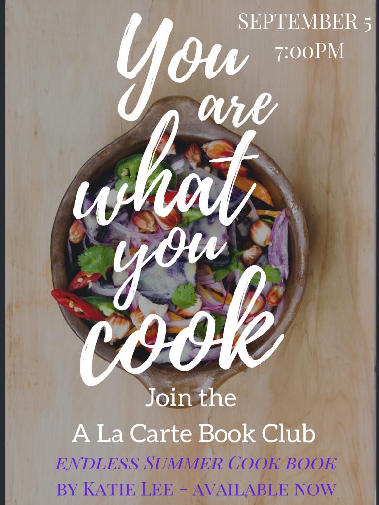 A La Carte Book Club September Flyer
