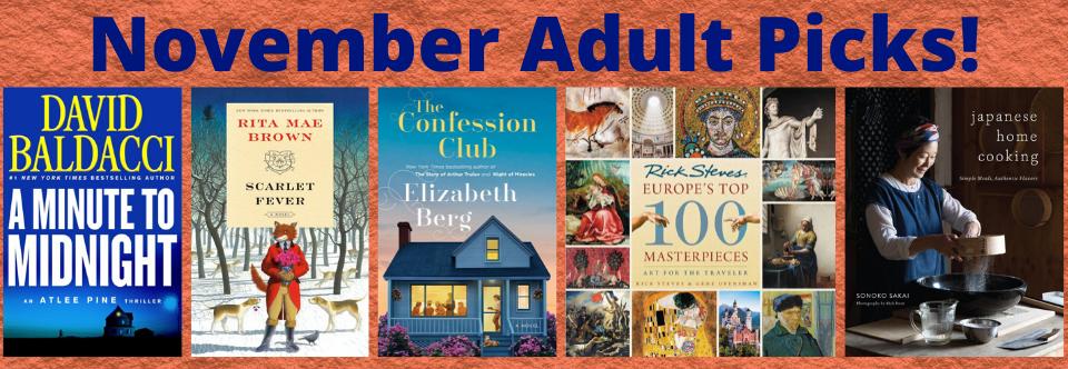 November 2019 Adult Picks!