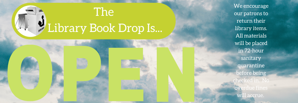 The Book Drop Opens For Returns!