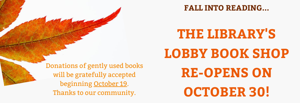 Lobby Book Shop Re-Opens October 30!