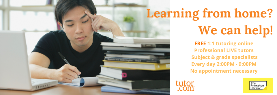 Live One-On-One Tutoring Online – FREE With Your Library Card!