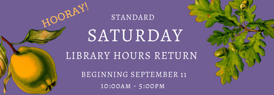 Introducing Expanded Saturday Hours